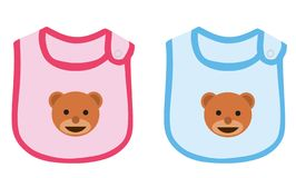Baby boy and baby girl apron. Vector illustration stock illustration