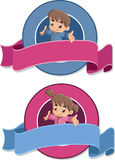 Baby boy and baby girl. Royalty Free Stock Photography