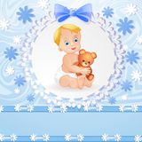 Baby boy background Royalty Free Stock Photography