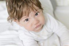 Baby boy. Background, happy baby boy, portrait Stock Image