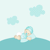 Baby boy background Royalty Free Stock Images