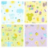 Baby Boy Background Set Royalty Free Stock Photo