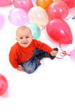 Baby boy with balloons Royalty Free Stock Images