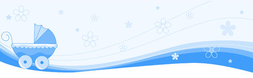 Baby boy banner / header Stock Photography