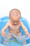 Baby boy in bath Royalty Free Stock Photography