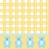 Baby boy bear background Royalty Free Stock Photography