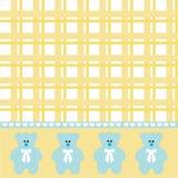 Baby boy bear background Royalty Free Stock Photography