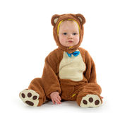 Baby boy in bear costume Royalty Free Stock Images