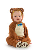 Baby boy in bear costume Stock Photos