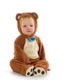 Baby boy in bear costume Stock Photos