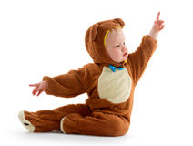 Baby boy in bear costume Royalty Free Stock Photo