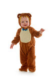 Baby boy in bear costume Royalty Free Stock Image