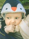 Funny cute small baby royalty free stock photo