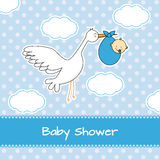Baby boy birth Stock Photo
