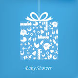 Baby boy birth card Stock Photo