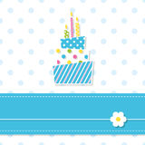 Baby boy birthday cake Royalty Free Stock Photos