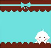 Baby boy birthday card Royalty Free Stock Images