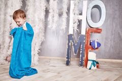 Baby boy blanked wool Stock Photos