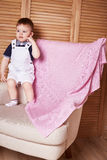 Baby boy blanked wool Royalty Free Stock Images