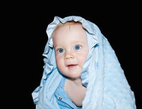 Baby boy. In blue clothes Royalty Free Stock Photos