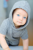 Baby boy with blue eyes Royalty Free Stock Photo