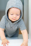 Baby boy with blue eyes Stock Photography