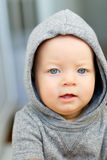 Baby boy with blue eyes Royalty Free Stock Image