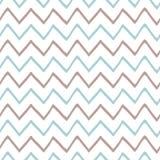 Baby boy blue seamless pattern zig zag ornament childish design Hand drawn simple textures background fabric vector. Baby boy blue seamless pattern with zig zag royalty free illustration