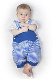 Baby boy in a blue suit Royalty Free Stock Image