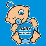 Baby boy on board, banner Stock Image