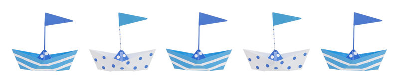 Baby Boy Boat Border Stock Photos