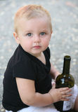 Baby boy with bottle Royalty Free Stock Image