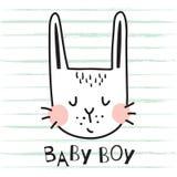 Baby boy bunny Royalty Free Stock Image