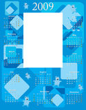 Baby Boy Calendar 2009. With space to paste 5 x 7 photo, vector illustration Stock Image