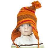 Baby boy in cap Stock Photos