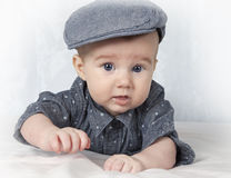 Baby boy in cap Royalty Free Stock Photo