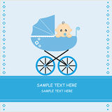 Baby boy in car Royalty Free Stock Photography