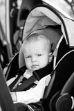 Baby boy in car seat Royalty Free Stock Images