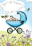 Baby boy, card Stock Image