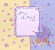 Baby boy card Stock Photography