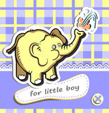 Baby boy card Royalty Free Stock Photography