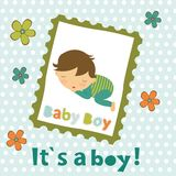 Baby boy card Royalty Free Stock Photo