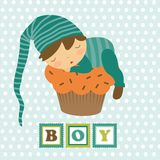 Baby boy card Stock Photos