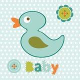 Baby boy card Stock Photo
