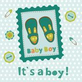 Baby boy card Stock Images