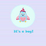 Baby boy card Stock Image