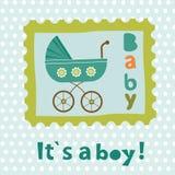 Baby boy card Stock Image