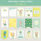 Baby Boy Card Set Royalty Free Stock Images