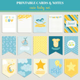 Baby Boy Card Set - for your celebration Stock Photo
