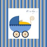 Baby boy carriage Stock Photo